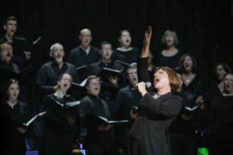 Patti LuPone with the WVC; photo credit Da Ping Luo