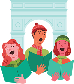 carolers-arch